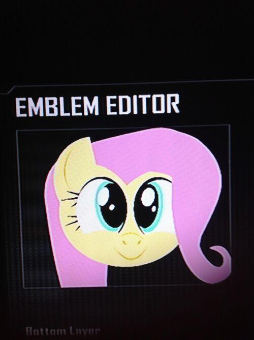 image fanmade fluttershy black ops 2 emblem 2jpg my