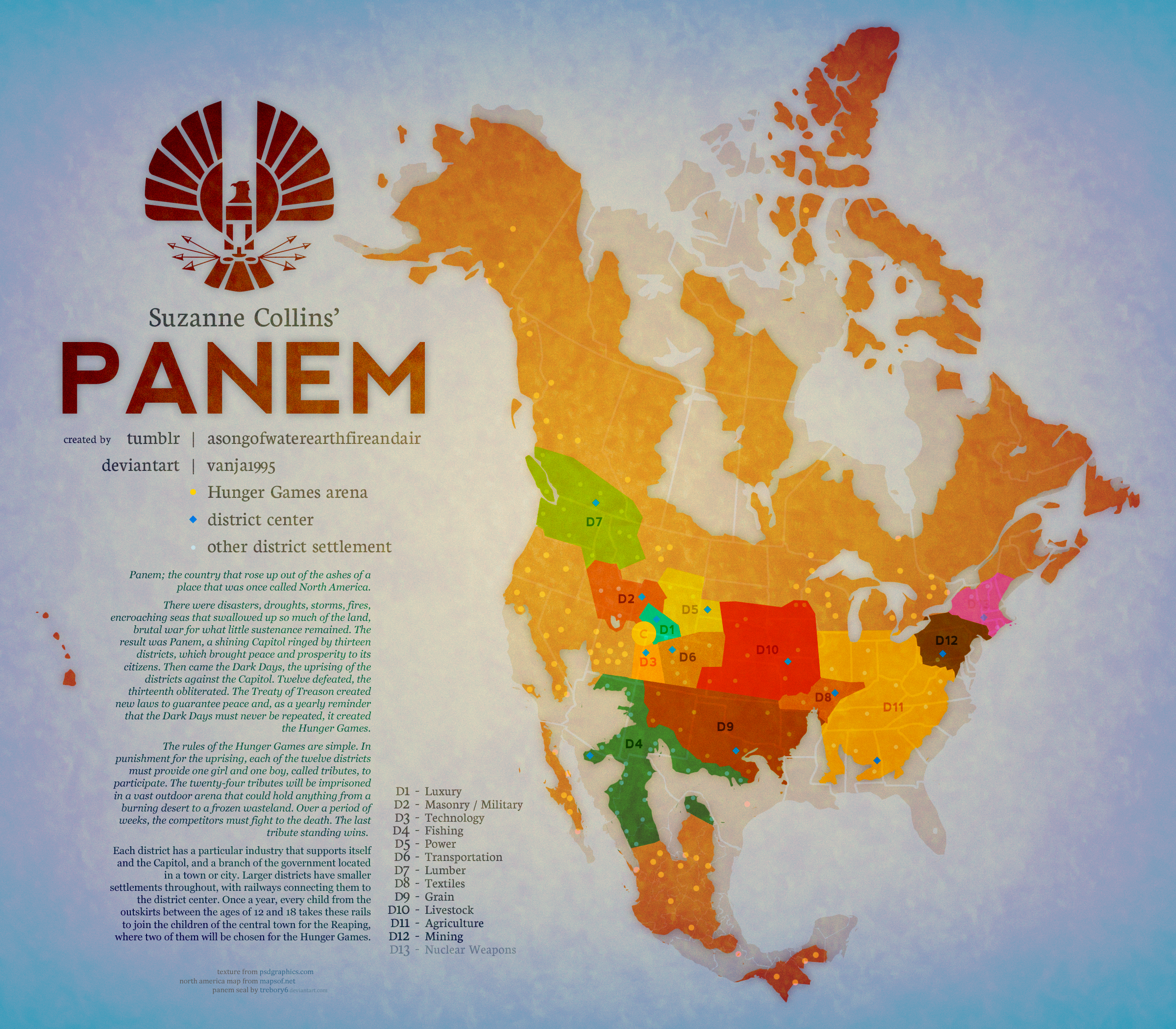 official hunger games map with Panem on Ark Survival Evolved Receives A Massive Winter Wonderland Update additionally Lbsg likewise Panem Districts Map 179816027 also Panem Map II 182384299 together with 843632.