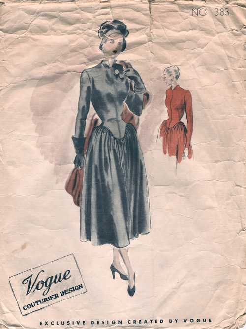 Vogue 383 - Vintage Sewing Patterns :  vintagepatterns dress patterns high neck