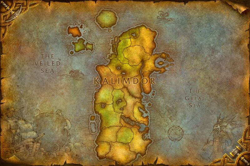 world of warcraft map kalimdor. world of warcraft map kalimdor