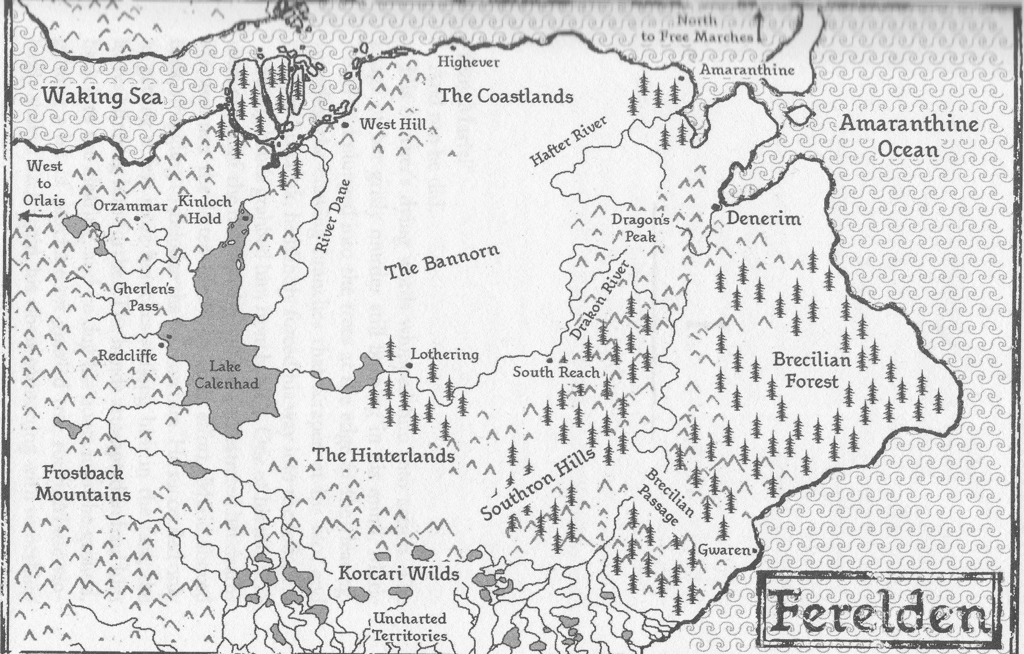 Map Of Ferelden Forum:Where on Earth is Gwaren?? | Dragon Age Wiki | FANDOM  Map Of Ferelden